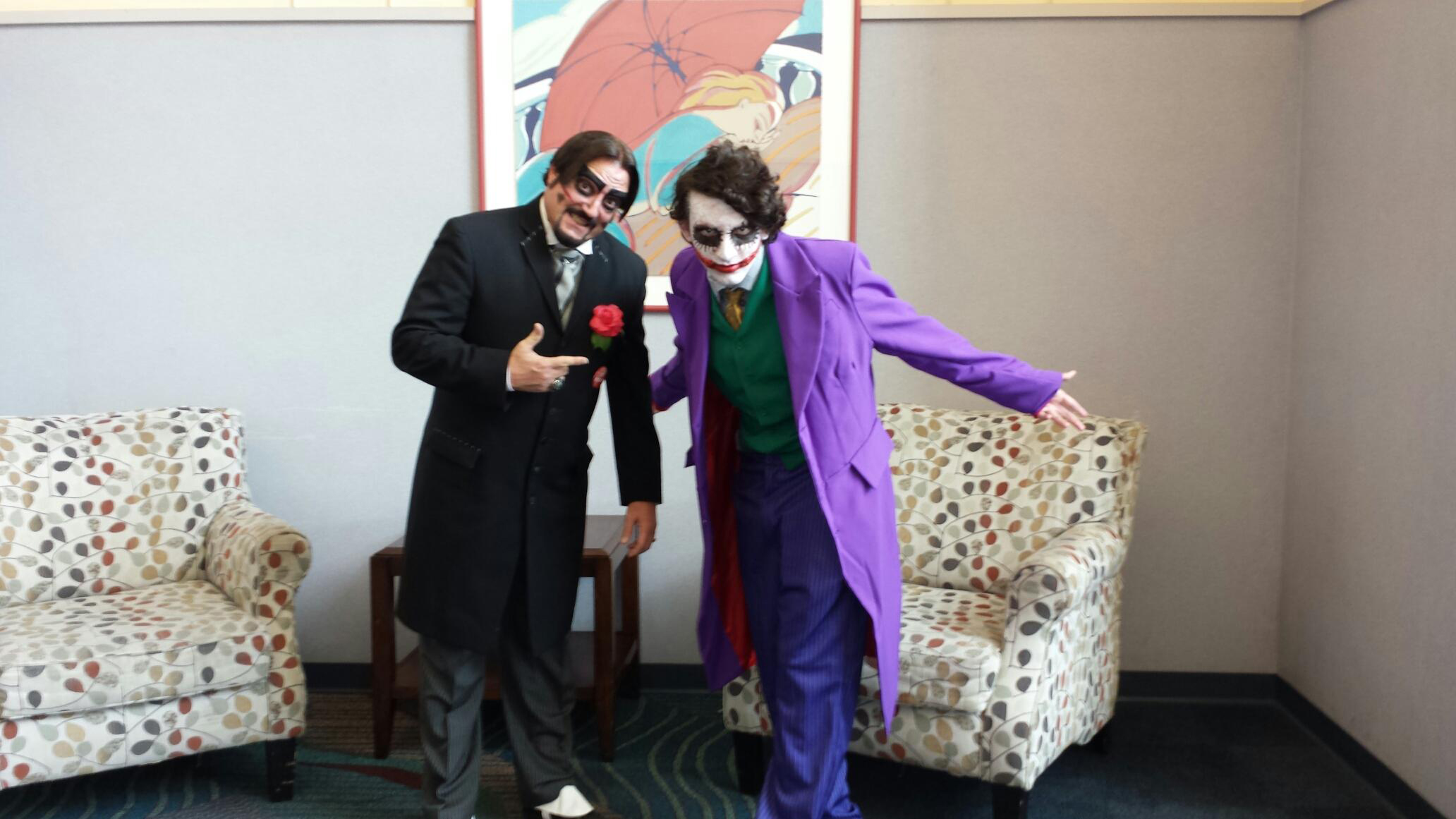 Dr. Paul Bearer with the Joker.