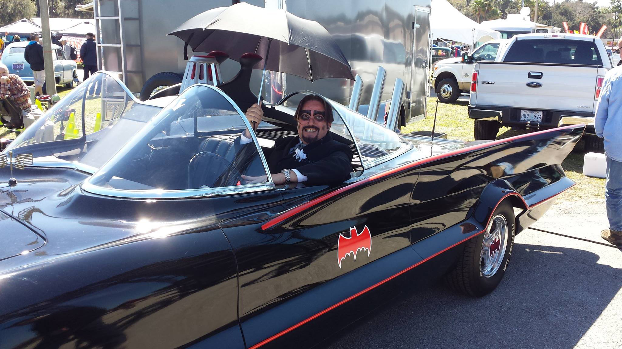 Dr. Paul Bearer in the Batmobile