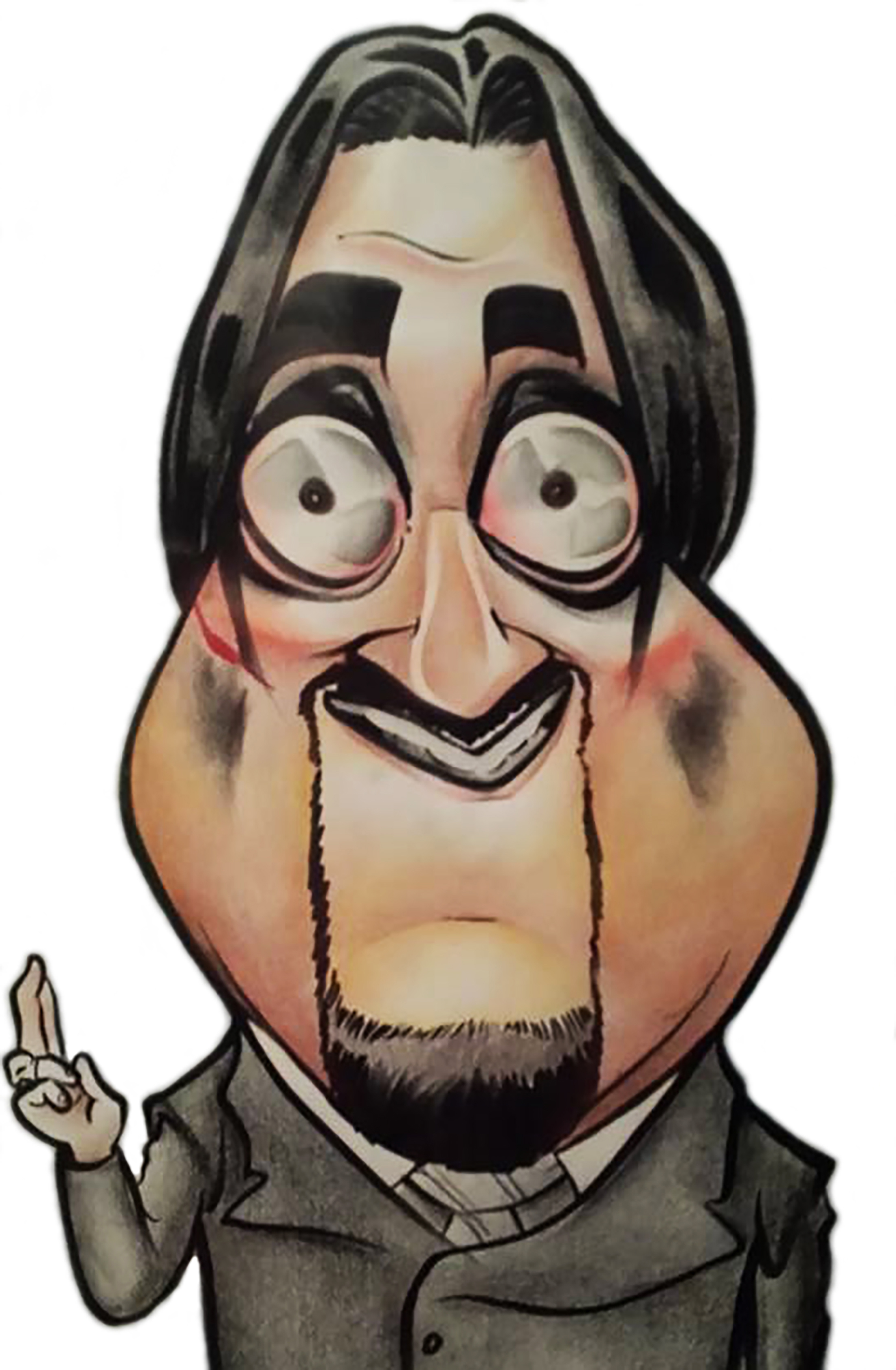 Dr. Paul Bearer cartoon