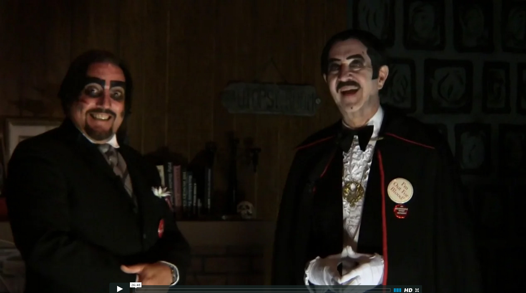 Dr. Paul Bearer with Count Gore De Vol