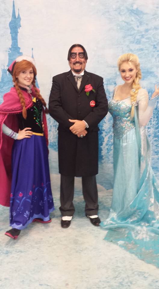 Dr. Paul Bearer with Elsa from Frozen