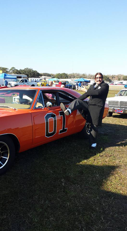 Dr. Paul Bearer with the General Lee