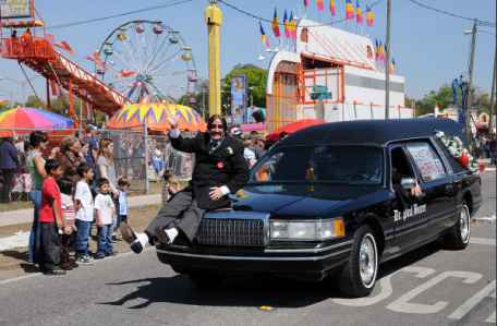 Dr. Paul Bearer in a parade