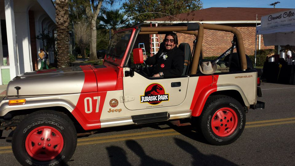 Dr. Paul Bearer in Jurassic Park jeep