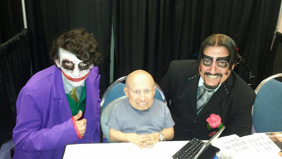 Dr. Paul Bearer with Verne Troyer
