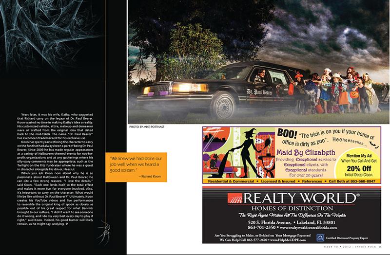 Inside Polk Magazine Dr. Paul Bearer